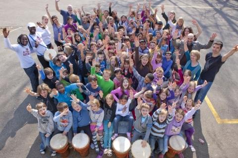 Workshop mit 400 Kindern in Olten